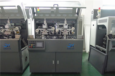 Çin Multicolor Continuous Hot Foil Plastic Stamping Machine Side Wall Fabrika