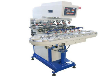 Çin Promotional Gifts Tampo Pad Printing Machine Six Color Conveyor Belt Printer Fabrika